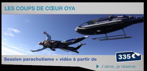 Parachute en Hélicoptere